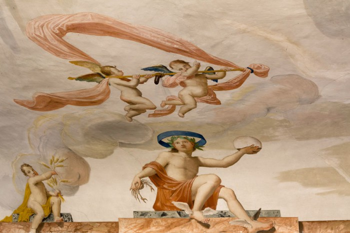 Biblioteca Oliveriana Pesaro, affresco sala dello zodiaco.
